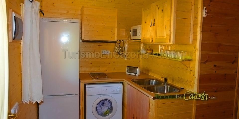 Caba as de madera los pinos casa rural y alojamientos en - Casas rurales madera ...