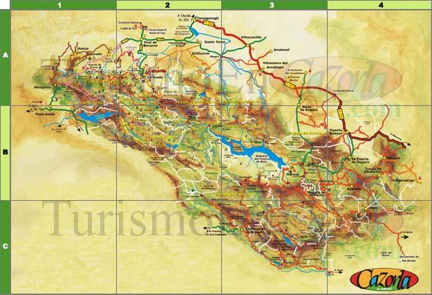 Sierra De Cazorla Y Segura Mapa.Mapas De Cazorla Y La Sierra De Cazorla Segura Y Las Villas